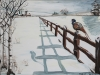 07) 'STOOD UP' (Pheasant in the snow)